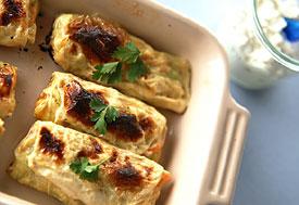 鶏むね肉とキャベツのさくさく湯葉巻きの作り方の手順
