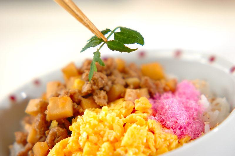 タケノコ入りそぼろご飯の作り方2