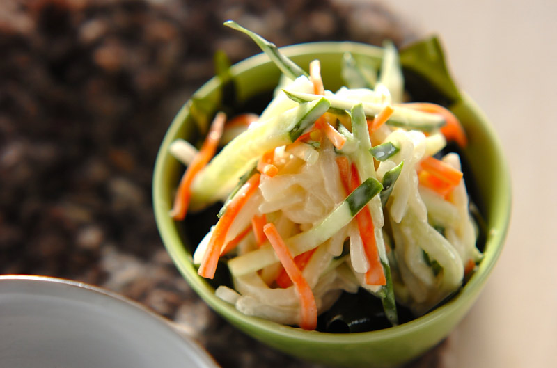 大根のマヨ和えサラダの作り方の手順