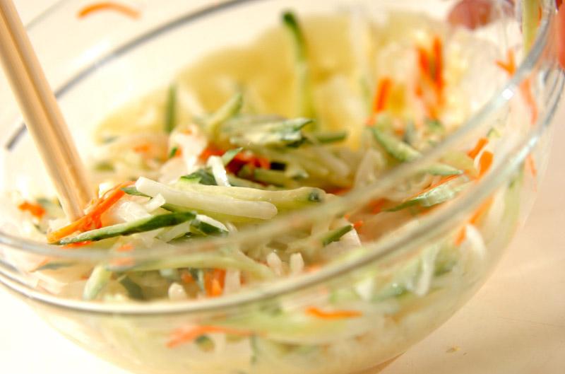 大根のマヨ和えサラダの作り方の手順4
