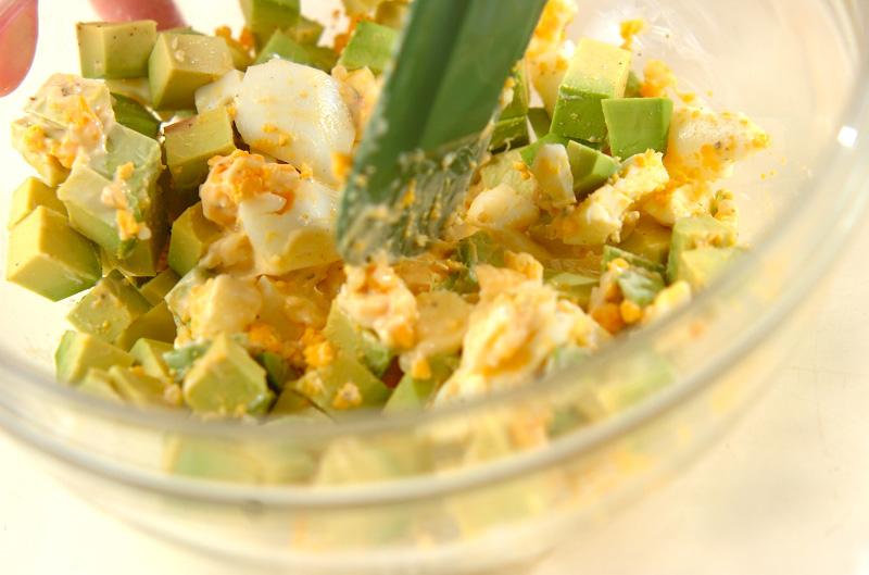 アボカドと卵のサンドの作り方の手順3