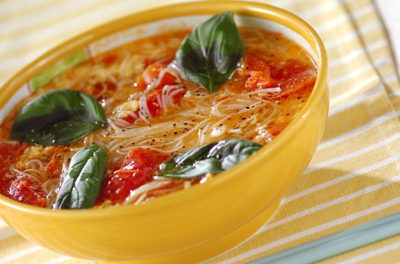 トマトと卵の温麺【E・レシピ】料理のプロが作る簡単レシピ/2009.08.06公開のレシピです。