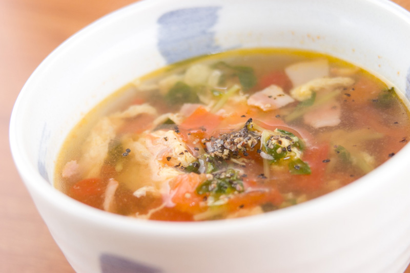 トマトと卵のスープ