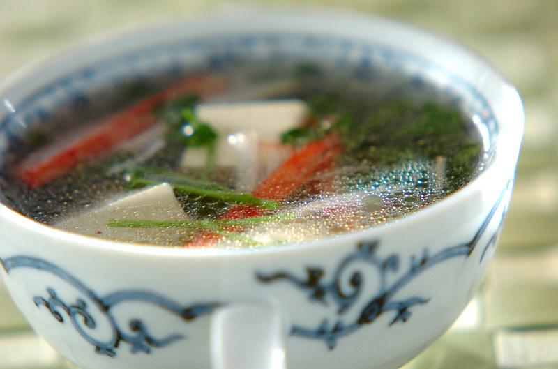 クレソンの中華スープ