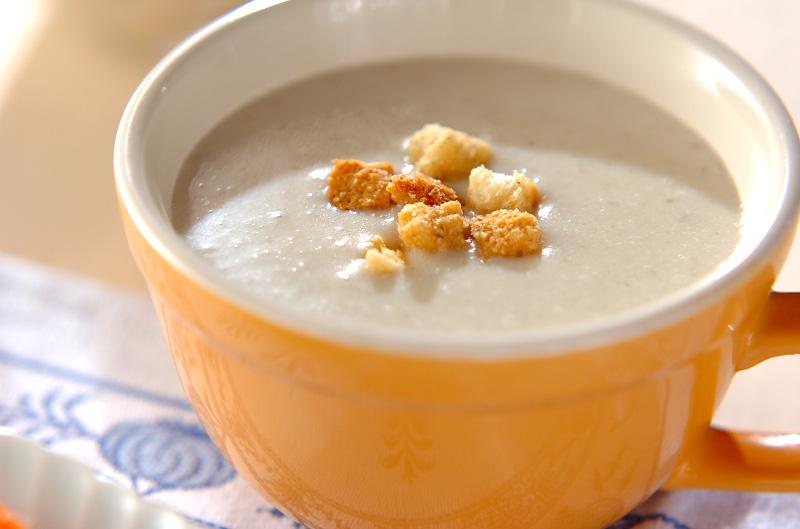ゴボウのクリームスープ
