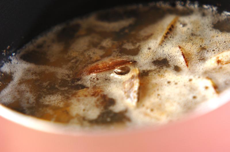 アサリとホウレン草のスープの作り方の手順3