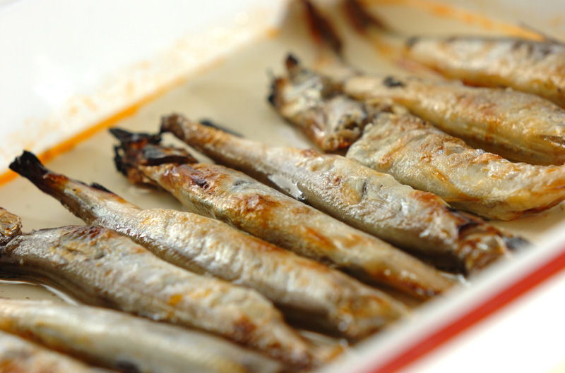 シシャモのピリ辛甘酢漬けの作り方の手順4