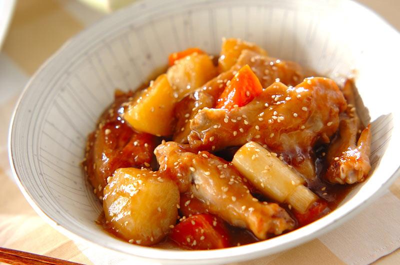 手羽肉の中華風煮込みの作り方の手順