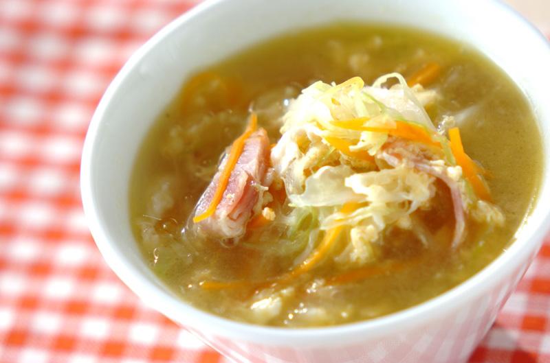 ベーコンとキャベツのスープの作り方の手順