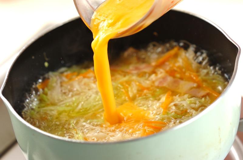 ベーコンとキャベツのスープの作り方の手順6