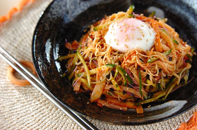 ビビン素麺【E・レシピ】料理のプロが作る簡単レシピ/2012.06.04公開のレシピです。