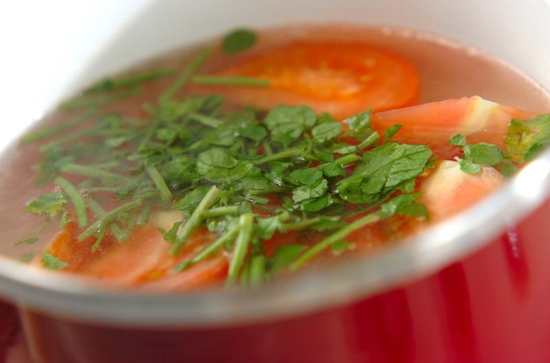 トマトのみそスープの作り方の手順4