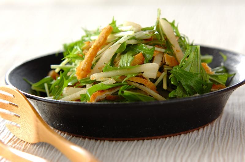 京のおばんざい 梨と水菜のサラダ