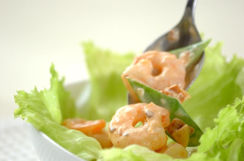 むきエビのナッツサラダの作り方の手順8