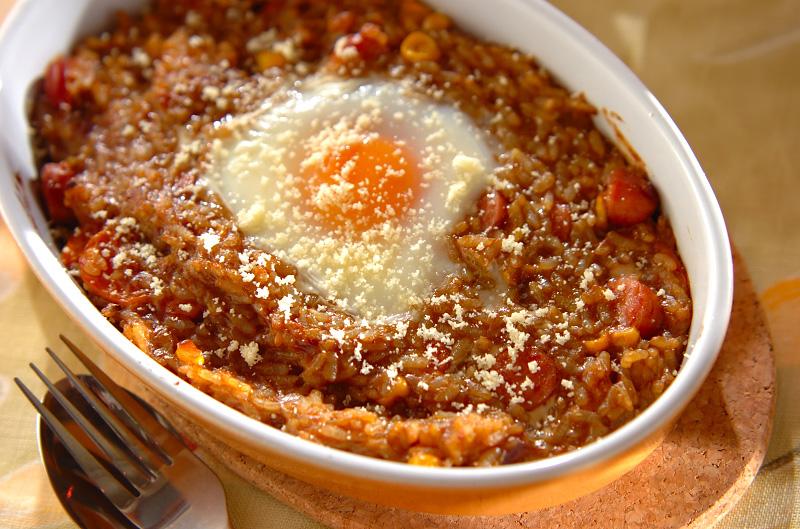 トロトロ卵の焼きカレーライスの作り方の手順