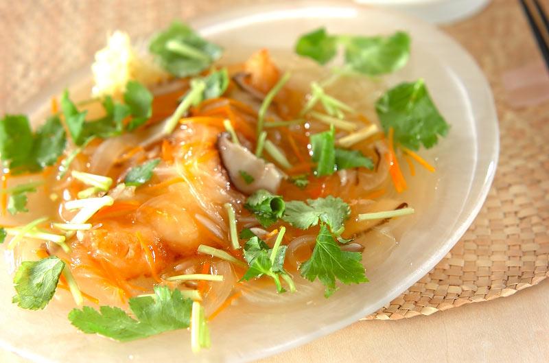 サクサク白身魚の野菜たっぷりあんかけの作り方の手順