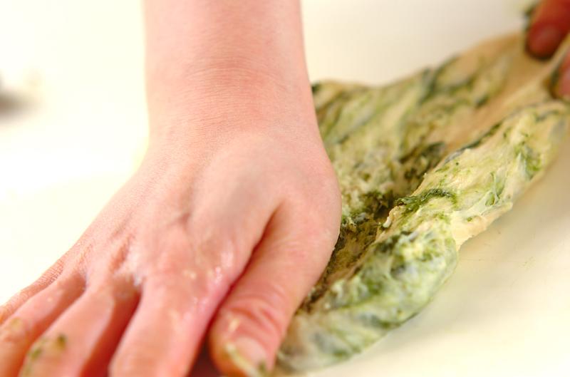 抹茶のうずまきパンの作り方の手順8