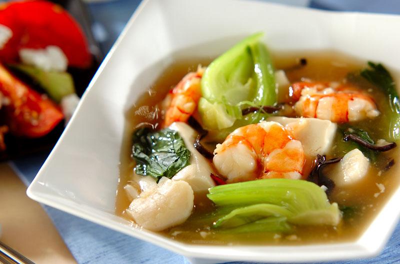 豆腐とエビのとろーり中華うま煮