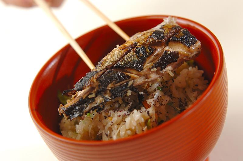 サンマの炊き込みご飯の作り方の手順5
