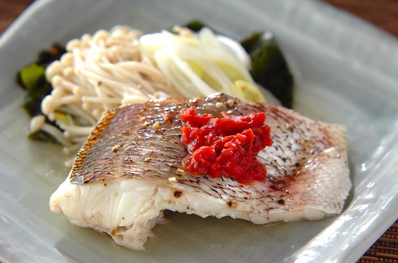 白身魚の梅肉蒸しの作り方の手順