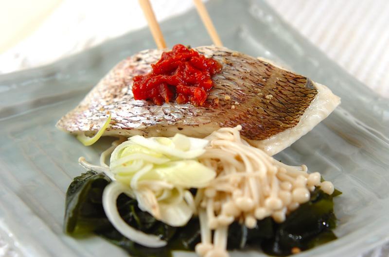 白身魚の梅肉蒸しの作り方の手順7