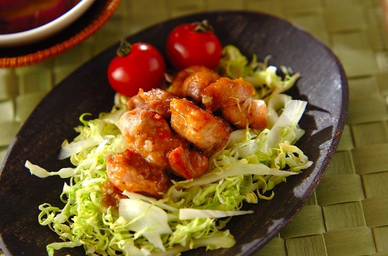 焼き鶏のピリ辛ゴマ酢ダレ