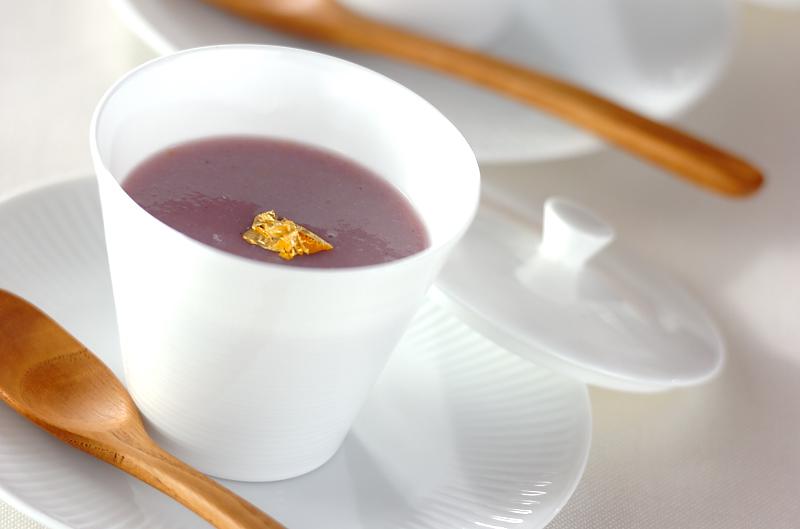 紫イモのスープ