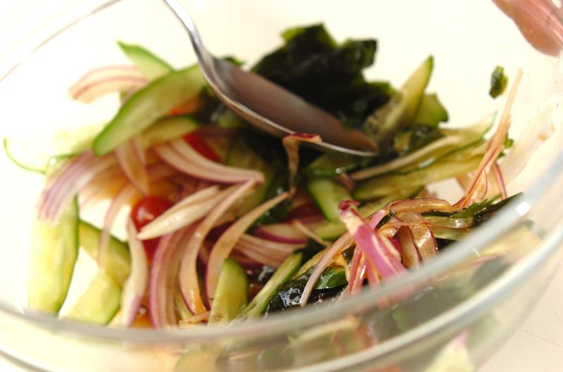 残り野菜のサッパリ冷やしスープの作り方の手順5