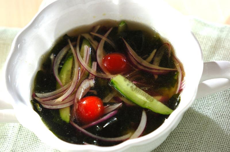 残り野菜のサッパリ冷やしスープの作り方の手順