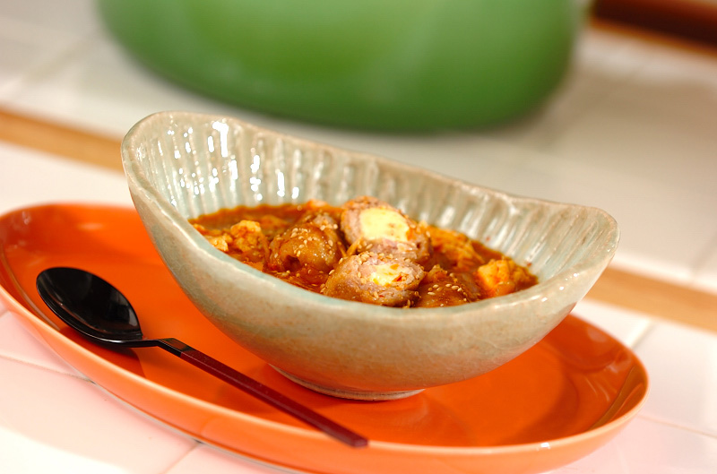 豚肉チーズのキムチスープ