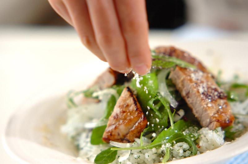 キハダマグロのイタリアン丼の作り方の手順8