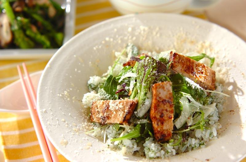 キハダマグロのイタリアン丼の作り方の手順