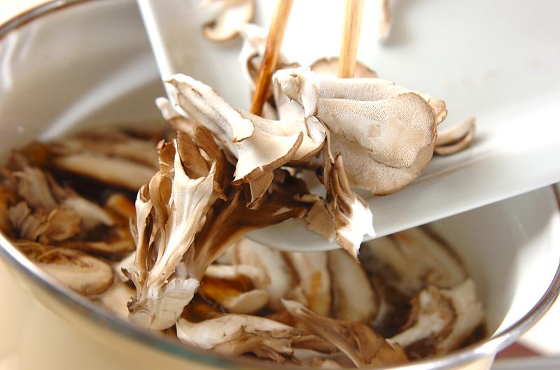 キノコ素麺汁の作り方1