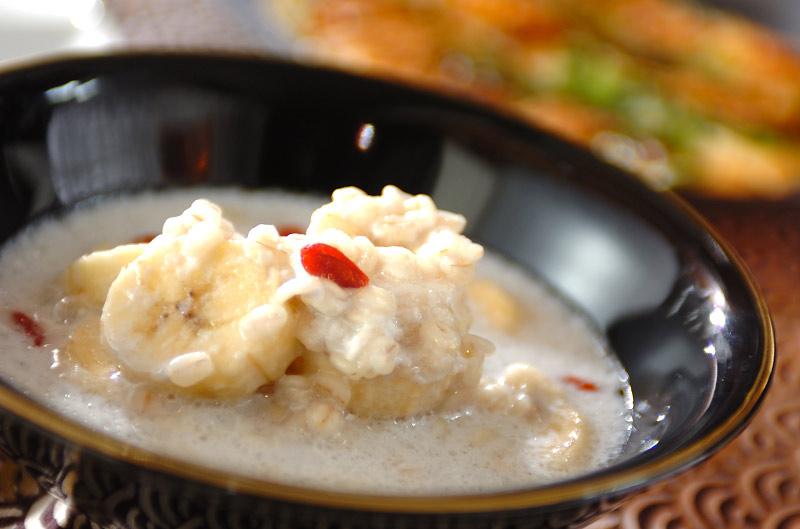 押し麦のココナッツデザートの作り方の手順
