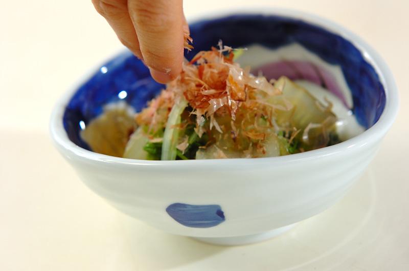水菜と白菜のおひたしの作り方の手順4