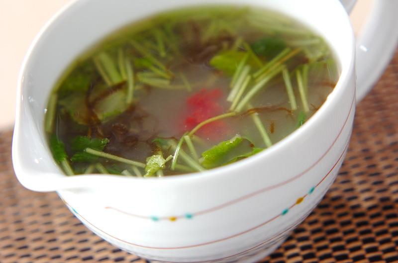 もずくの梅スープの作り方の手順