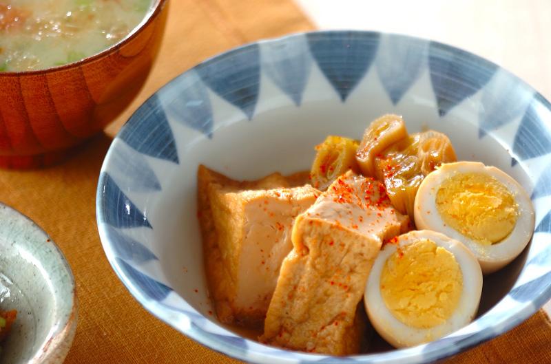 厚揚げと卵の煮物の作り方の手順