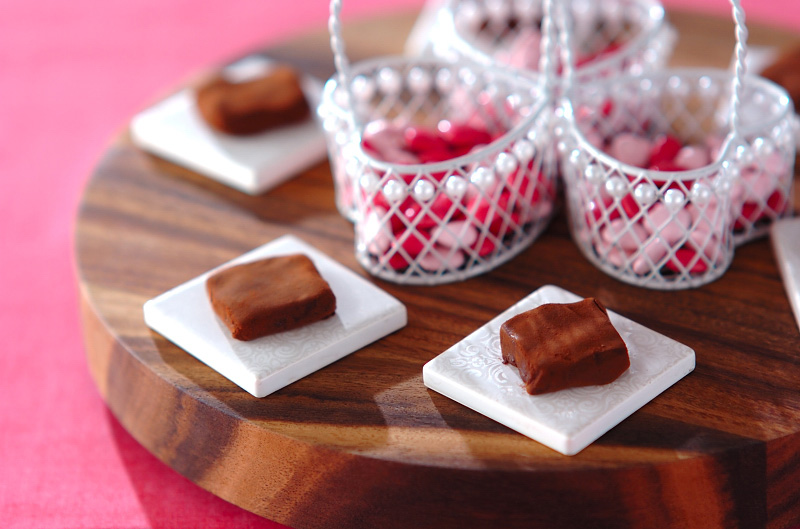 生チョコ・フランボワーズの作り方の手順