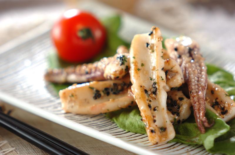 イカのガーリックマヨ炒めの作り方の手順