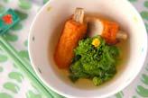 ゴボ天と菜の花の煮物