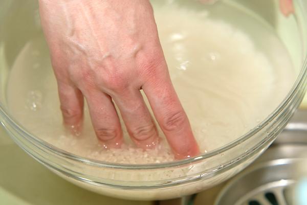 土鍋でごはんを炊くの作り方の手順1