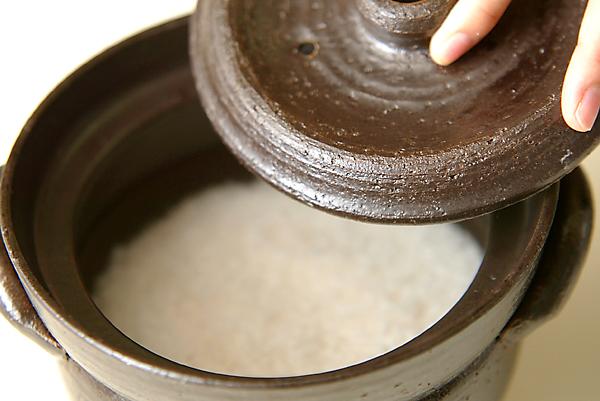 土鍋でごはんを炊くの作り方の手順