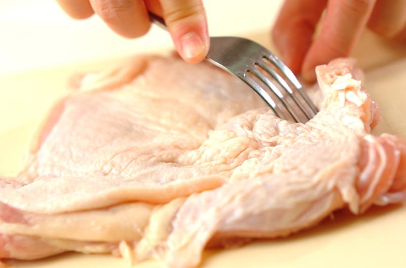 フライパンで照り焼きチキンの作り方の手順1