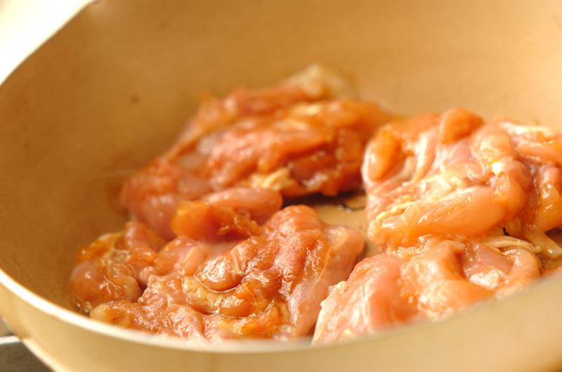 フライパンで照り焼きチキンの作り方の手順4