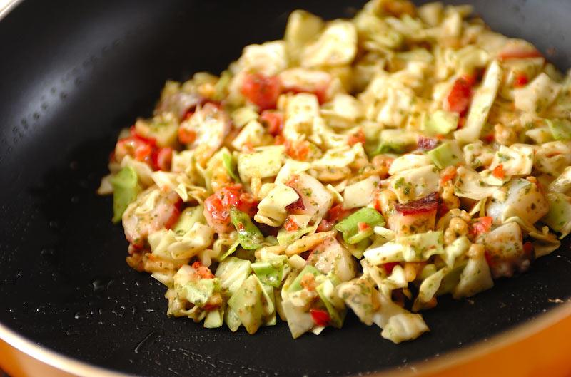 タコキャベツ焼きの作り方の手順7