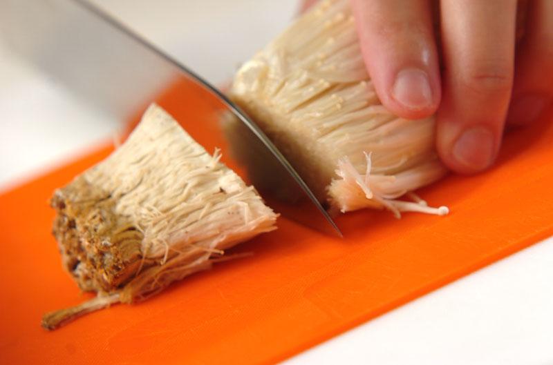 エノキとホウレン草のゴマ和えの作り方の手順1