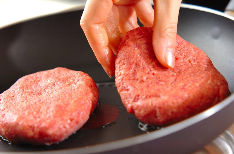 アボカドソースがけハンバーグの作り方の手順6