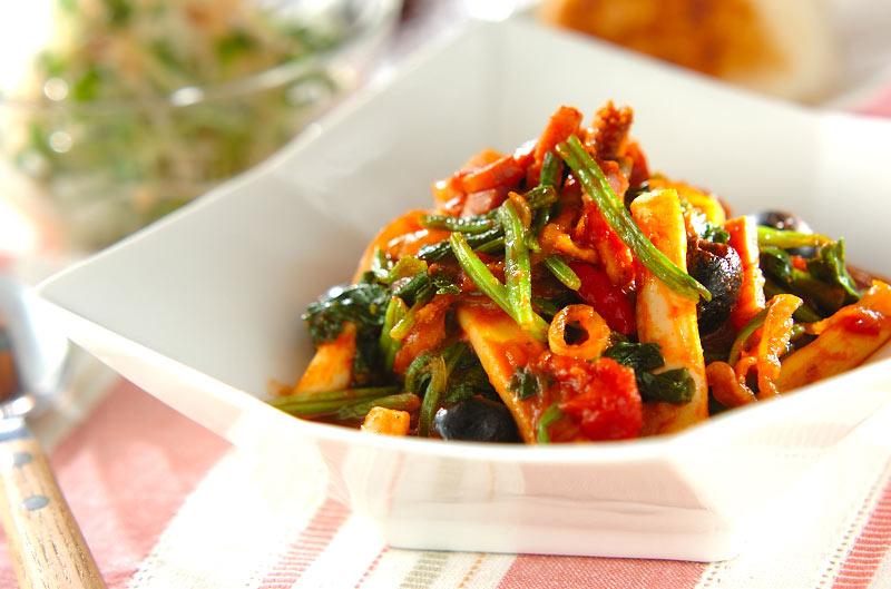 イカと野菜のトマト煮込みの作り方の手順