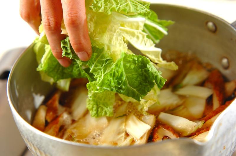 ちくわと白菜の煮物の作り方の手順2