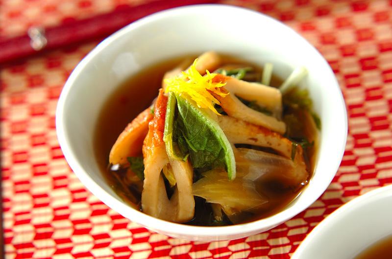 ちくわと白菜の煮物の作り方の手順